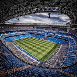 Santiago Bernabéu by Ole Steffensen - Buildings & Architecture Other Exteriors ( football, real madrid, madrid, stadium, seats, santiago bernabéu, spain )