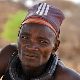 Himba. by Lorraine Bettex - People Portraits of Men