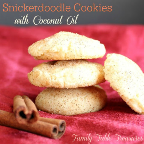 Snickerdoodle Cookies {with Coconut Oil}