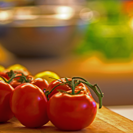 Red Vine Tomatoes by Tina Hailey - Food & Drink Plated Food ( red, vine, tina's captured moments, food, tomatoes,  )