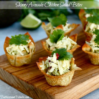 Skinny Avocado Chicken Salad Bites