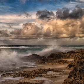 Cozumel by Cristobal Garciaferro Rubio - Landscapes Cloud Formations ( shore, clouds, sand, mexico, sea, rocks )