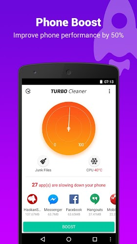 Turbo Cleaner - Boost, Clean Android App Screenshot