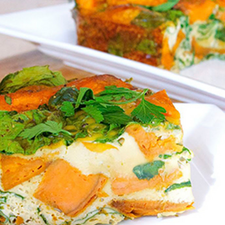 Roasted Capsicum, Sweet Potato and Pumpkin Frittata Recipe | Yummly