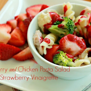 Strawberry and Chicken Pasta Salad with Strawberry Vinaigrette
