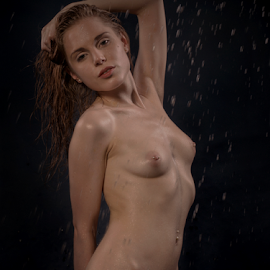 Wet and Wanting... by Jean-marc Nehmé - Nudes & Boudoir Artistic Nude ( nude, female, shower, wet )