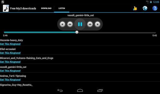 Free Mp3 Downloads- screenshot thumbnail