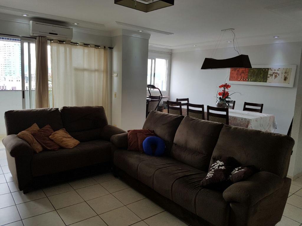 Apartamento com 4 dormitórios para alugar, 150 m² por R$ 5.000/mês - Boqueirão - Santos/SP
