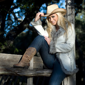 Howdy Cowgirl by Michael Giardina - People Portraits of Women