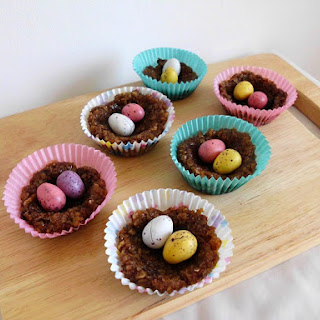 No Bake Chocolate Oat Easter Nests