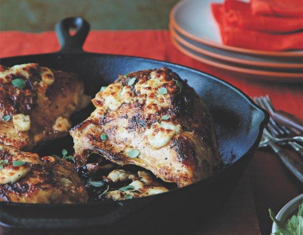 Lemon-Oregano Roasted Chicken With Broiled Feta Recipe   Yummly