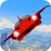 Futuristic Flying Car Ultimate Icon