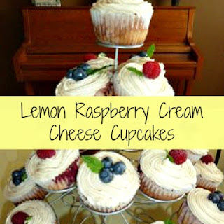 Lemon Raspberry Cream Cheese Cupcakes