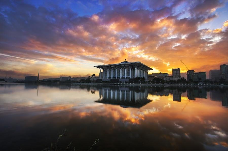 Putrajaya Sunrise by Cornell J. Asin - Landscapes Sunsets & Sunrises