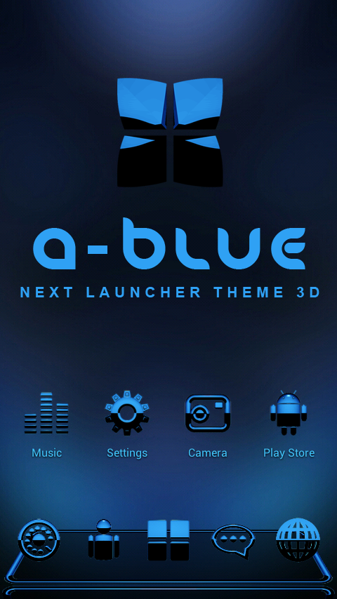 A-BLUE Next Launcher 3D Theme Screenshot 0