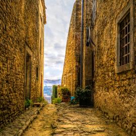 Old Street Motovun by Siniša Biljan - City,  Street & Park  Street Scenes