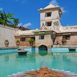 Tamansari Watercastle by Shohibul Huda - Instagram & Mobile Android ( history, building, yogyakarta, tamansari watercastle, tamansari, indonesia, water castle, historical, architecture, watercastle, historic )