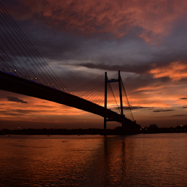 The 2nd Hooghly Bridge, Kolkata, India by Gautam Tarafder - Buildings & Architecture Bridges & Suspended Structures ( #kolkata, #vidyasagar_setu, #bridges, #ganges,  )