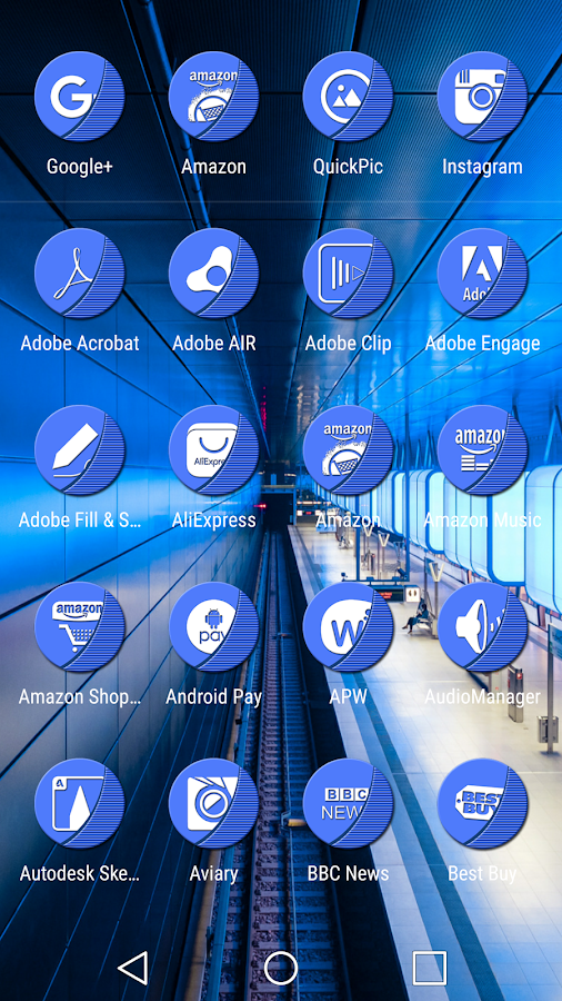 Naz Blue - Icon Pack Screenshot 7