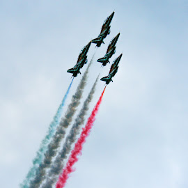 Red Arrows Ascending by Paul Milligan - Transportation Airplanes ( plane, transport, airplane, vehicle, transportation )