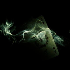 Smoke by Ivan Vukelic - Artistic Objects Other Objects ( poker, vukelic, ivo, aces, play, vuk, game, smoke, cards, gambling )