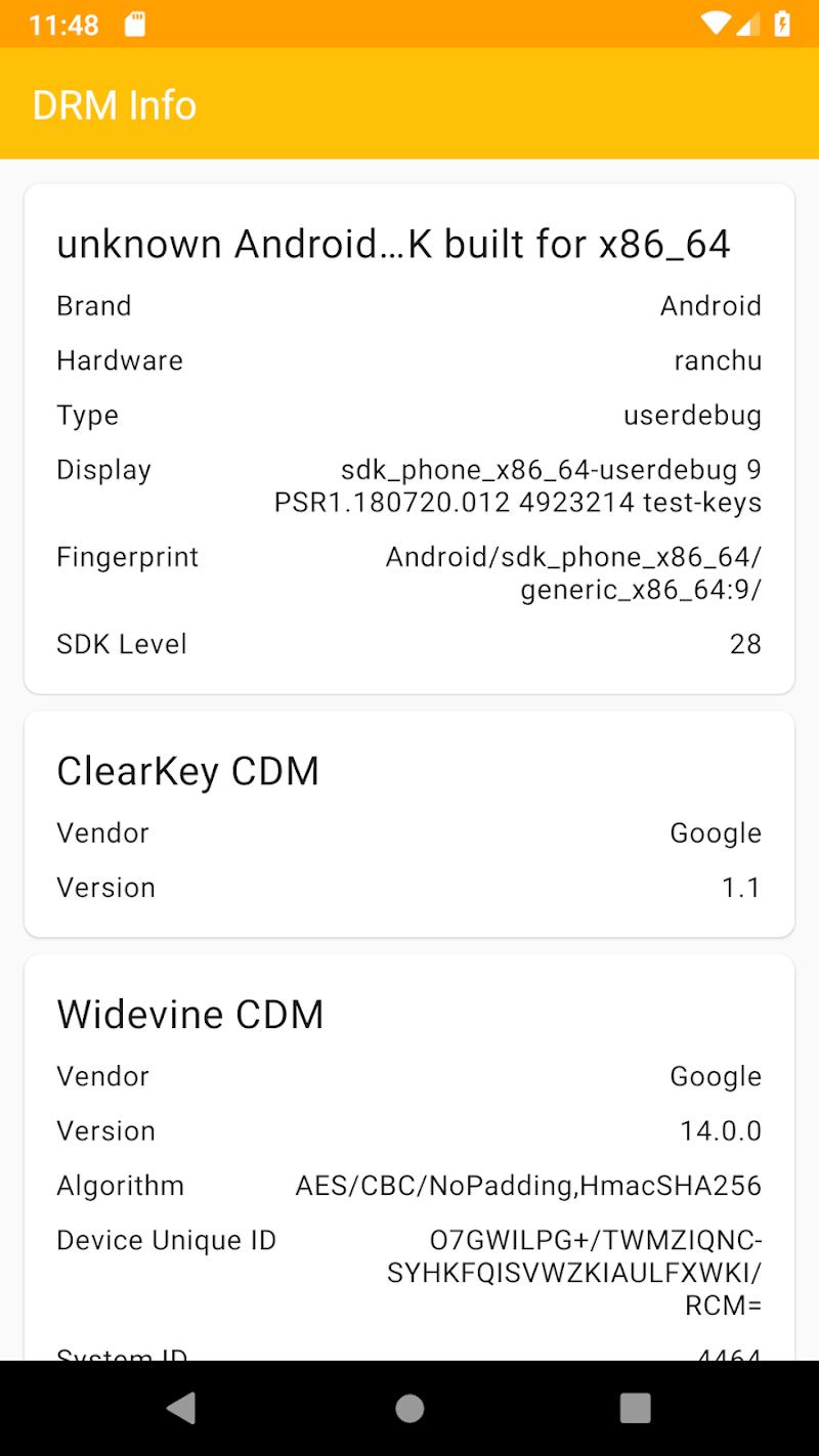 DRM Info Screenshot 0