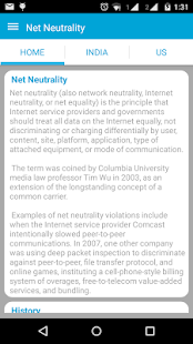 Net Neutrality - Save Internet - screenshot