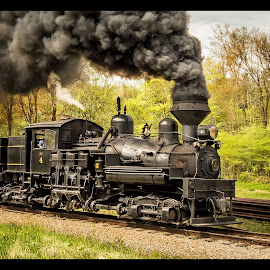 6-26 Gettin' After It by James Eickman - Transportation Trains