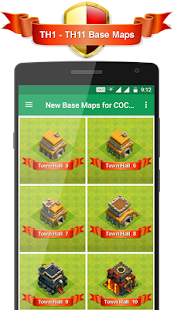 App New Base Maps for COC 2017 APK for Windows Phone