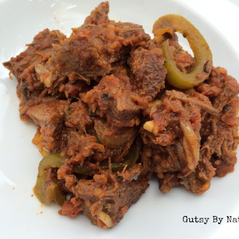 Cuban Shredded Beef and Peppers