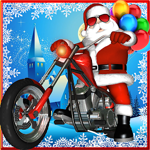 Download Santa Claus Bike Racing: Gift Race Winter Games for Android