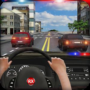 車の中で警察の追跡