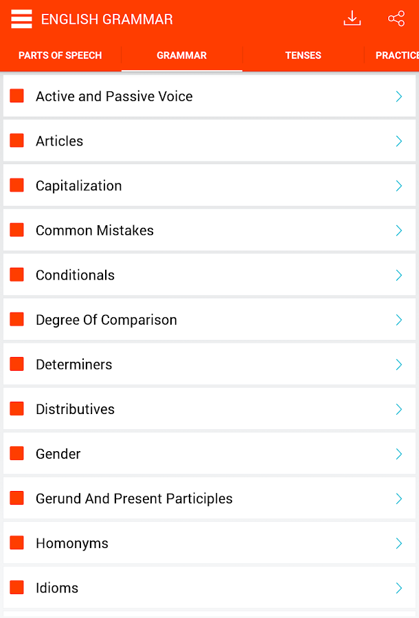 English Grammar Screenshot 8