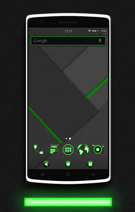 Glow Green CM13 CM12.x Theme Screenshot 4