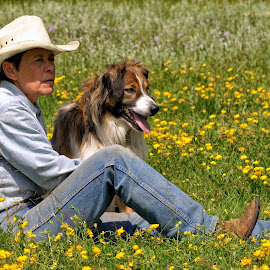 Among the Wild Flowers  by Twin Wranglers Baker - People Street & Candids (  )