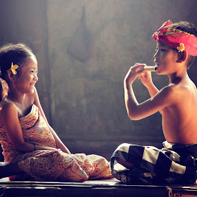 Me and My Sister by Irvan Darmawan - Babies & Children Children Candids