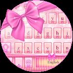 Pink Bow Girly Typewriter Icon