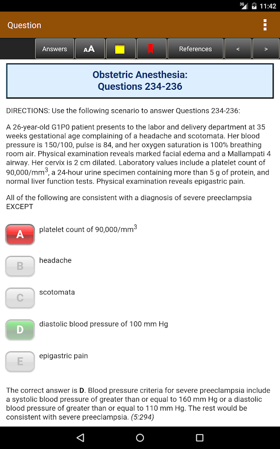 Anesthesiology Board Review Screenshot 19