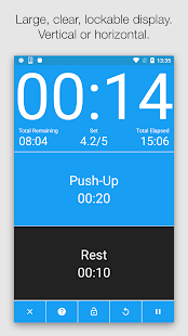 Seconds - HIIT Interval Timer Fitness app screenshot 1 for Android