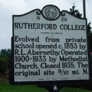 Evolved from private school opened c. 1853 by R. L. Abernethy. Operated 1900-1933 by Methodist Church. Closed 1935. The original site 1.3 mi. N.Plaque via North Carolina Highway Historical Marker ...