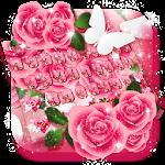 Pink Rose Keyboard Icon