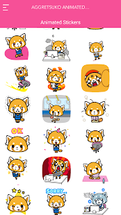 Aggretsuko Animierte Aufkleber android apps download