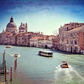 Basilica of Saint Mary of Health, Venice by Cristian Peša - City,  Street & Park  Historic Districts ( santa maria of health, grand canal, venice, historical, public, basilica )