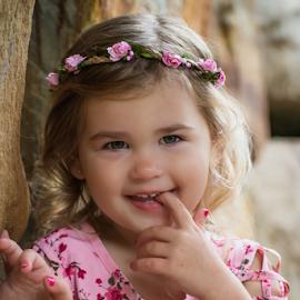 Flowers everywhere by Judy Deaver - Babies & Children Child Portraits ( flowers, pink flower, portrait, summer )