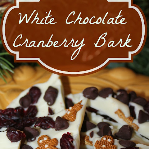 White Chocolate Cranberry Bark