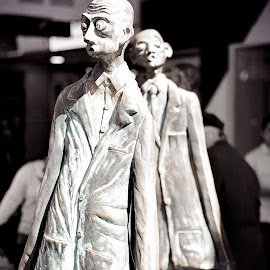 Creepy Men by Kimberly Starr - Artistic Objects Other Objects ( creepy, statue, melbourne, art, men )