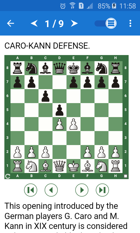 Chess Tactics in Caro-Kann Def Screenshot 0