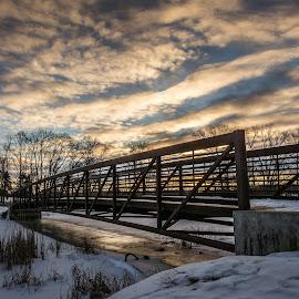 by Chandra Whitfield - City,  Street & Park  City Parks ( clouds, winter, sky, park, bridge, landscape )