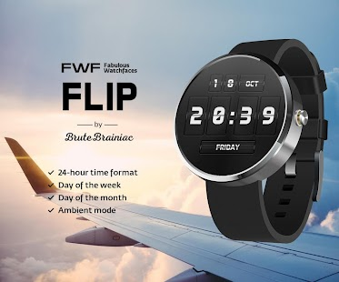Flip Watch Face Android Wear