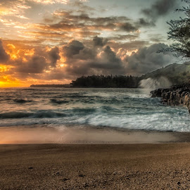 by Kelley Hurwitz Ahr - Landscapes Sunsets & Sunrises ( kauai go pro )